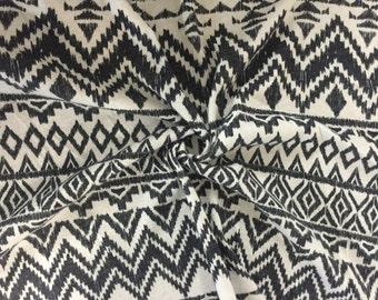 Charcoal Tribal Print Jersey