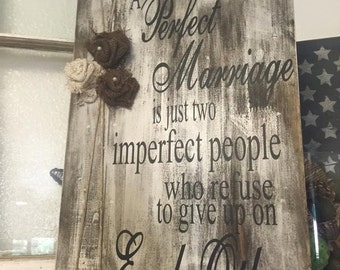 Perfect Marriage Rustic with Burlap Flowers