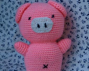 Crocheted Piglet