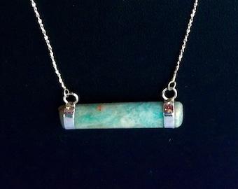Virginia Amazonite bar necklace