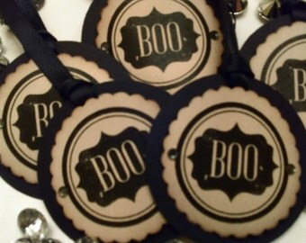 October 31st Halloween Tags, Boo Tags, Vintaged Tags