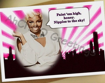 Paint em High Bachelorette Card
