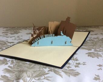 CLIFFS OF MOHER Pop-Up Card