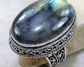 Labradorite Ring - Sz 10