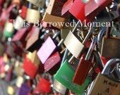 Love Lock Bridge, Salzburg Austria, ThisBorrowedMoment, Europe, 5x7 or 8x12 Photo Print