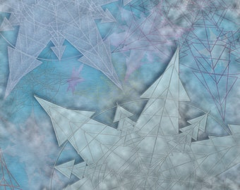 Snowflakes Icy -- Surrealism