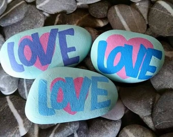 Painted Stones, Alternative, Greetings Card, I Love You, Romantic Gifts, Girlfriend Gifts, Boyfriend Gifts, Love Token, Love, Hearts,