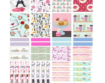 DIY Printable planner stickers, PDF file, Paris theme