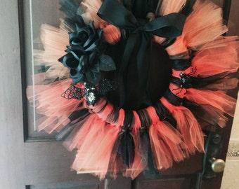 Halloween tutu wreath