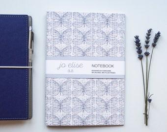 A5 Dusky Butterfly Pattern/Print | Eco Notebook by Jo Elise