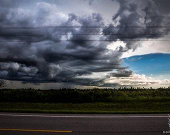 Sun and storm, florida weather, sunny storm photo