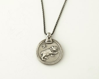 Clarion Medallion Necklace