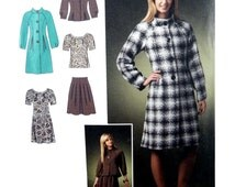 2008 Simplicity 2764 Misses' Winter Coat or Jacket, Dress or Top and Skirt Uncut Factory Folded Sewing Pattern Multi-Size 4-12