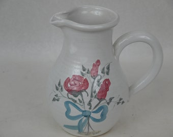 Lovely Antique Hand Painted Ceramic Pitchet