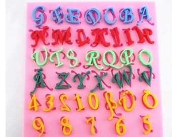 Letters, numbers, silicone mold, fondant mold, cake decoration mold, chocolate mold, lace mold soap mold