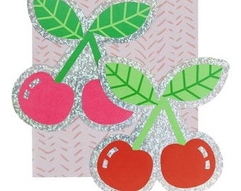 Set of 2 Cherry Stickers - Cherry Stickers - Cherries Sticker - Petit Bout de France