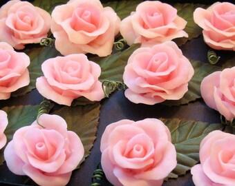 Cold Porcelain Roses (Light Pink/ flatback)