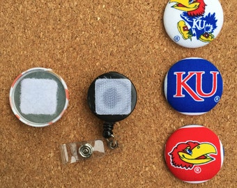 KU Button Badge Reel Set - Interchangeable