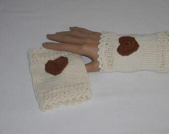 Arm warmers - hand warmers - wristwarmers & wristbands - handmade - knitted -.