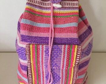 Artisanal Mexican balckpack
