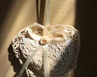 Handwoven Organic Cotton Heart Shaped Lavender Sachet