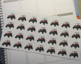 28 Side by Side stickers for your Life planner. Removable