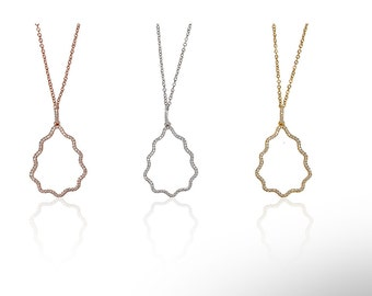 Pine Necklace with Cyrstals 925 / Sterling Silver