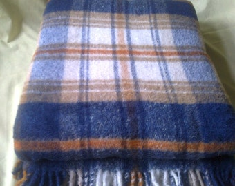 Wool Blanket 160x200cm (63x79 inches) 100% sheep wool warm and thick