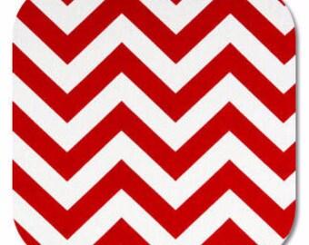 Premier Prints ZigZag Chevron in Red Lipstick White 7 oz Cotton Home Decor fabric, 1 yard