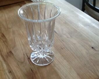 Vintage cut glass goblet