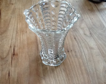 Vintage interesting small bubble vase