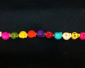 Multi-color Skull Bracelet