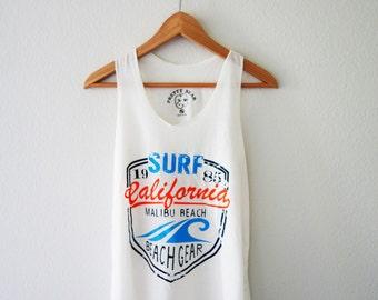 Malibu California Tank Beach Tank Top Shirt