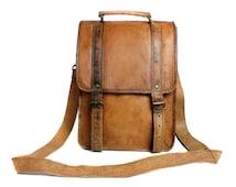 Leather satchel, messenger bag, backpack, cross body bag, handbag handmade fairtrade