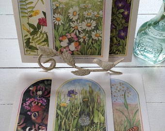 Book pages, woodland prints, flowers, butterflies, for scrapbooking and craft