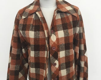 Georgy Girl 1970s Plaid Jacket