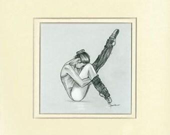 Ballerina Collection - Dancer (Pencil Drawing)