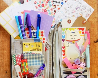Stationery Sticker Travel Case Wallet | Sticky Notes | Planner Supplies | Washi Tape | Pencil Case