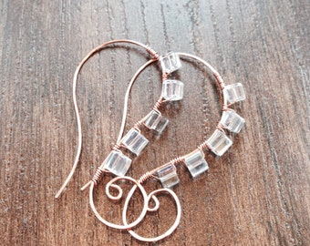 Copper thread style earrings