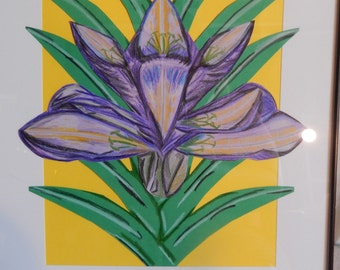 Purple Iris w/Greenery