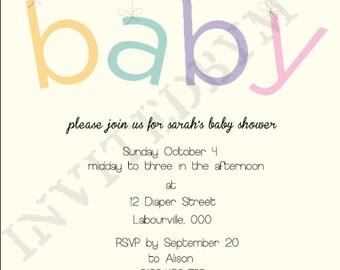 Baby Shower Invite Boy or Girl