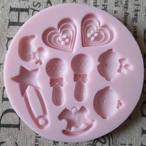 42 Best Dck Chocolate Molds Images On Pinterest: Baby Heart Hobbyhorse Duck Polymer Clay Mold Fondant Molds