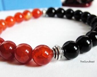 Fire Agate Bracelet, Jasper Bracelet, Yoga Mala Bracelet, Chakra Bracelet, Buddha Bracelet, Yoga, Mens Bracelet, Womens Bracelet, Beads