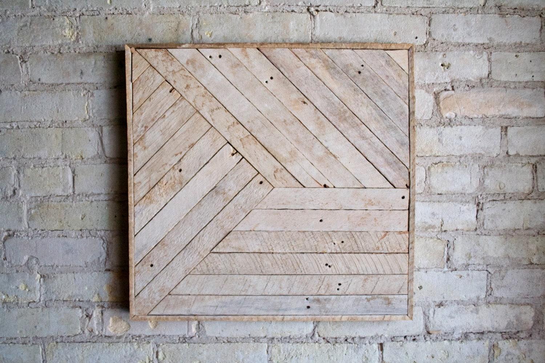 reclaimed wood wall art decor lath pattern by eleventyonestudio. Black Bedroom Furniture Sets. Home Design Ideas