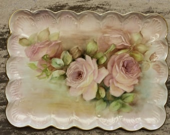 Limoges Hand Painted Tray