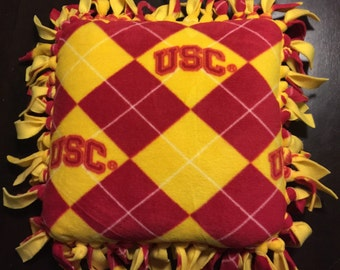 """16"""" fleece USC pillow"""