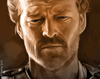 Jorah Mormont, Game of Thrones art print
