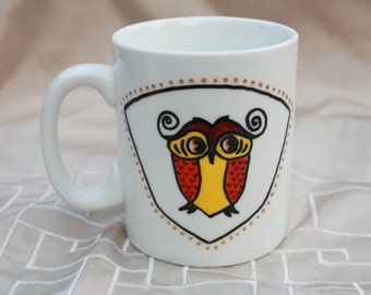 Hand painted OWL Cup