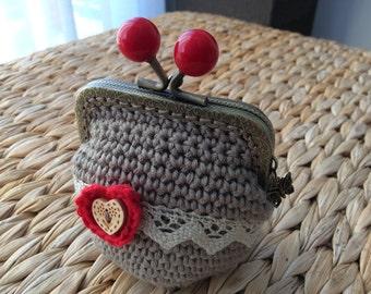 Crochet vintage style purse