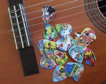 Flippo guitar picks, handmade.